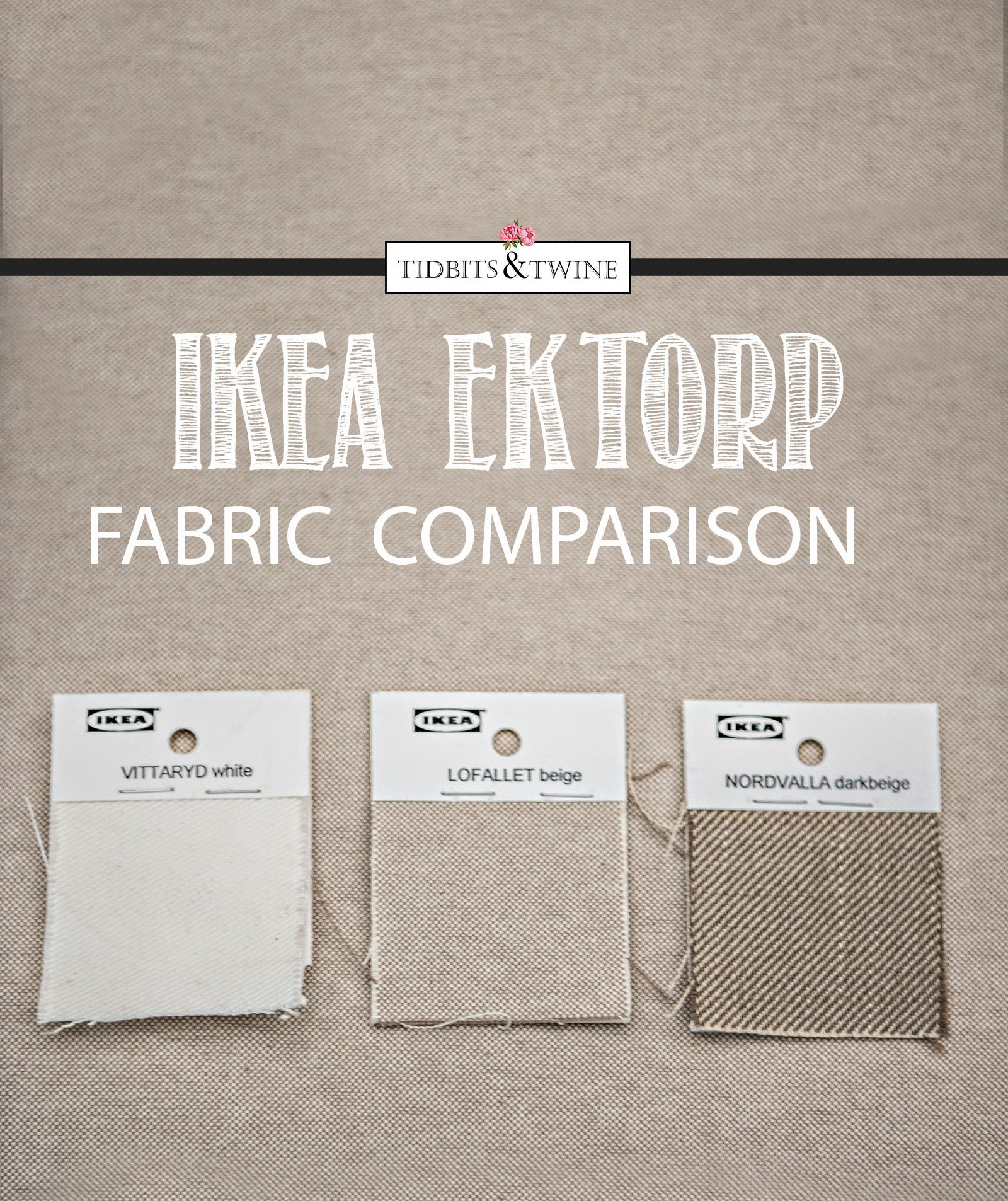 IKEA EKTORP Lofallet Beige versus Vittaryd White and Nordvalla dark beige