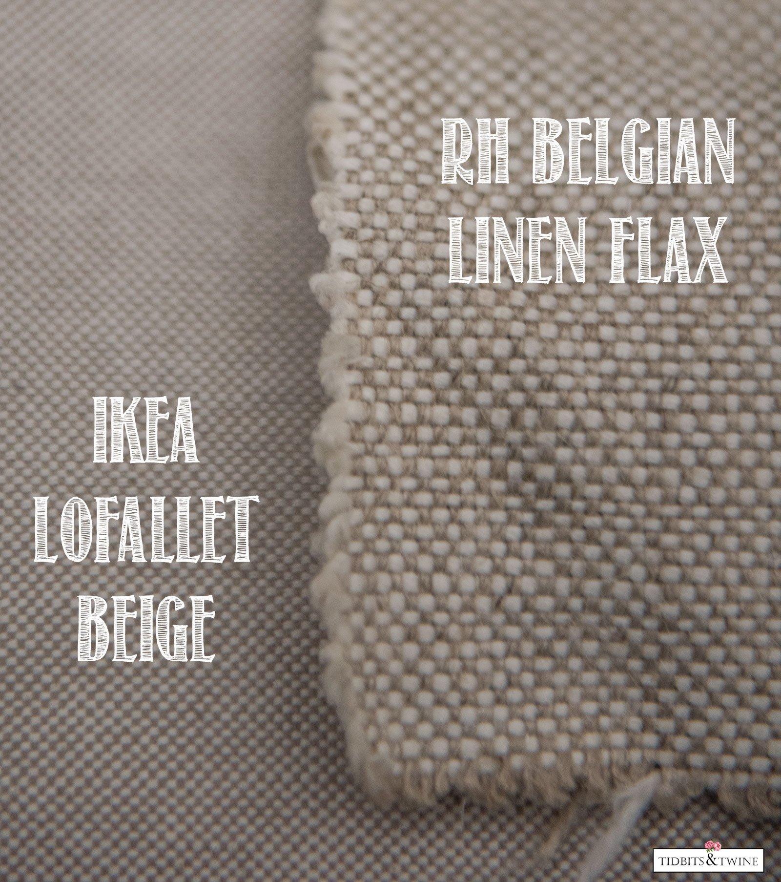 RH Belgian Linen versus IKEA EKTORP Lofallet Beige