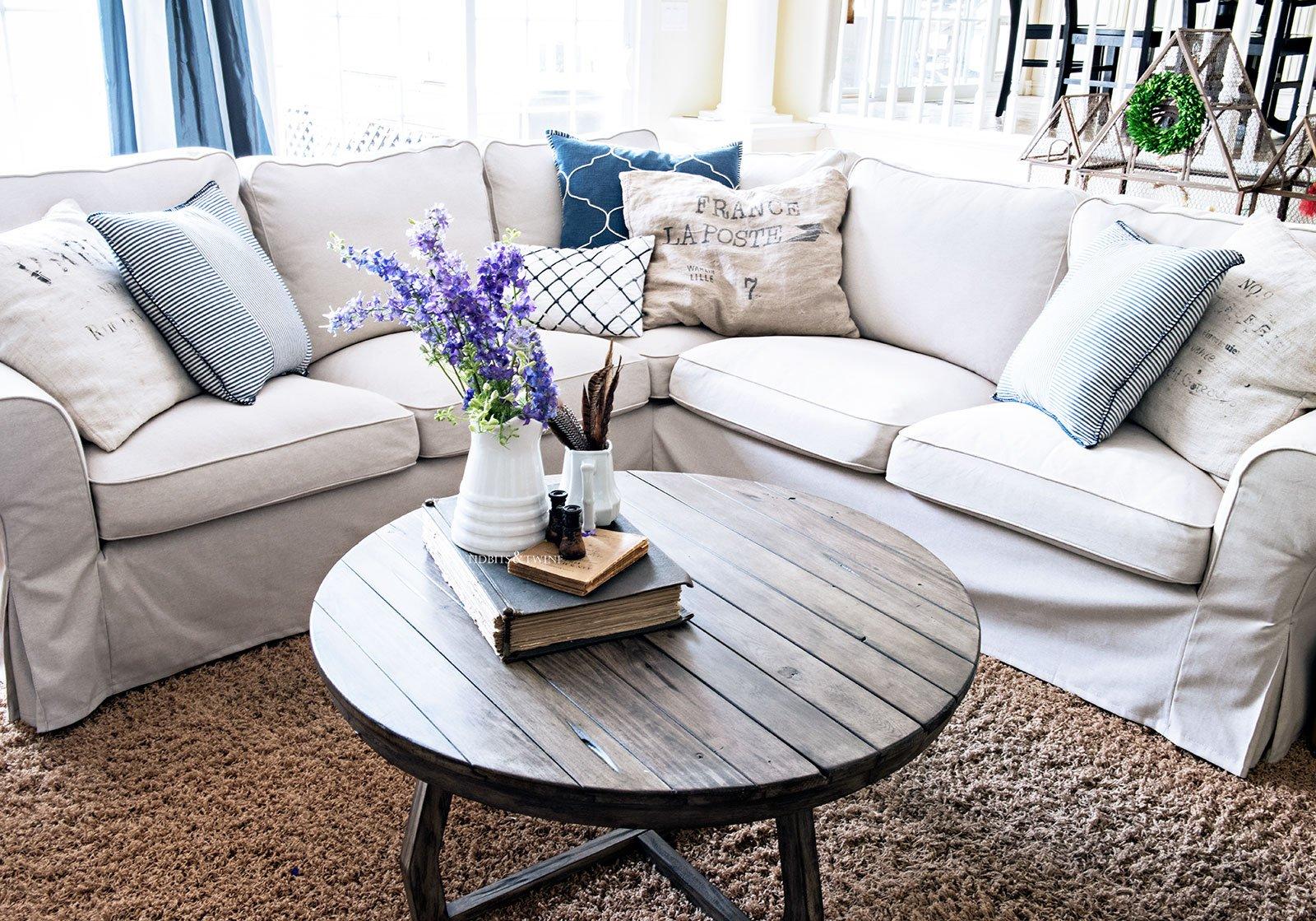 IKEA EKTORP sectional sofa in Lofallet Beige Review - Tidbits&Twine