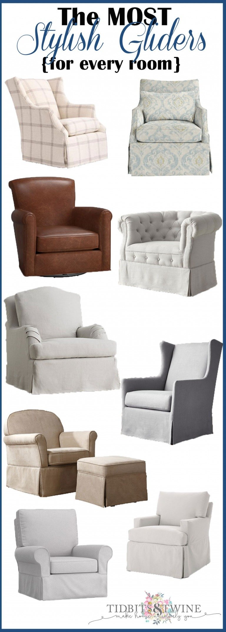 Stylish Glider Chairs for Every Room of Your Home