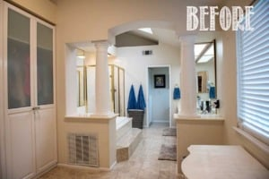 One Room Challenge Master Bathroom Before Tidbits&Twine