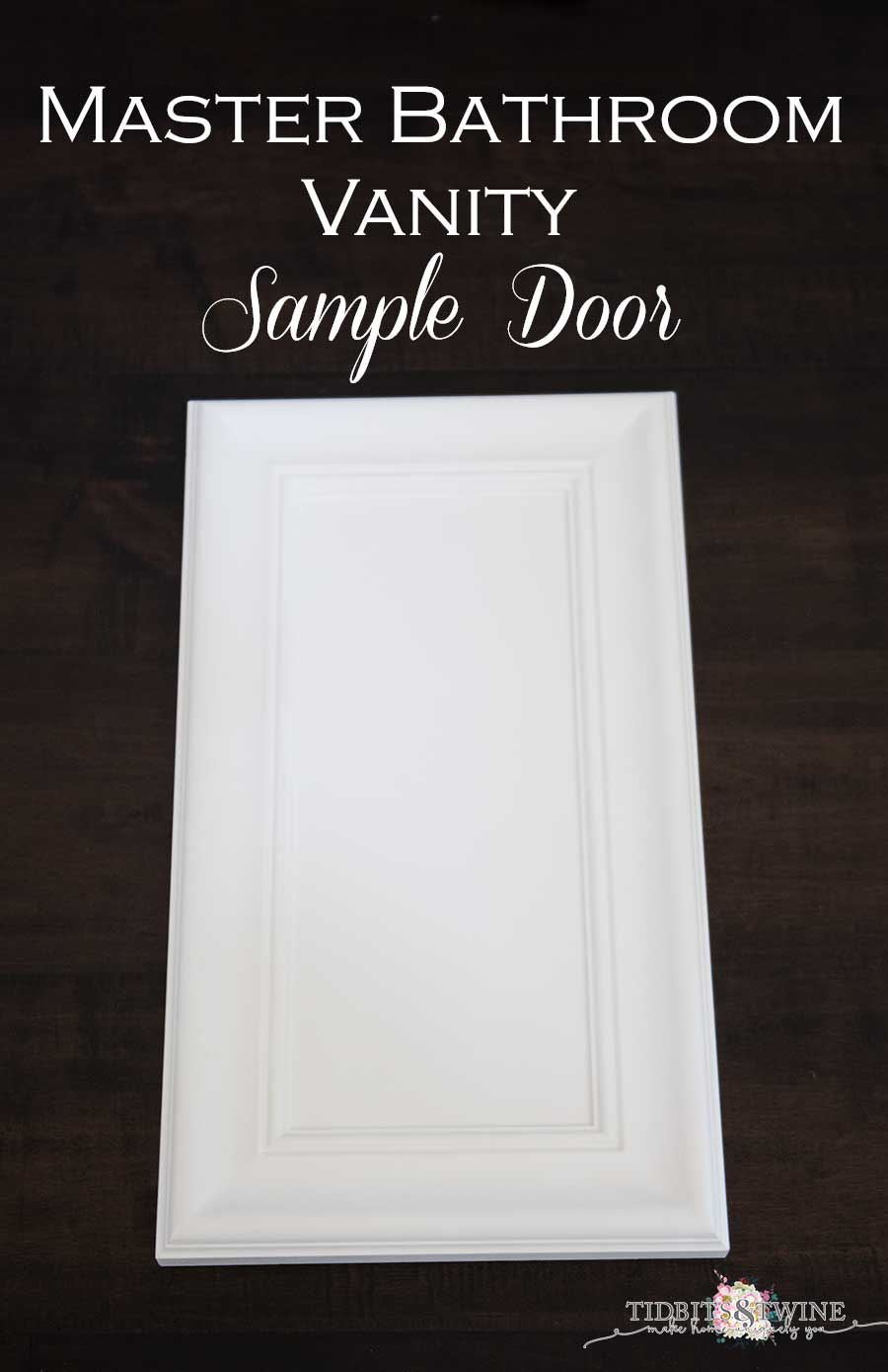 Tidbits&Twine master bathroom sample door