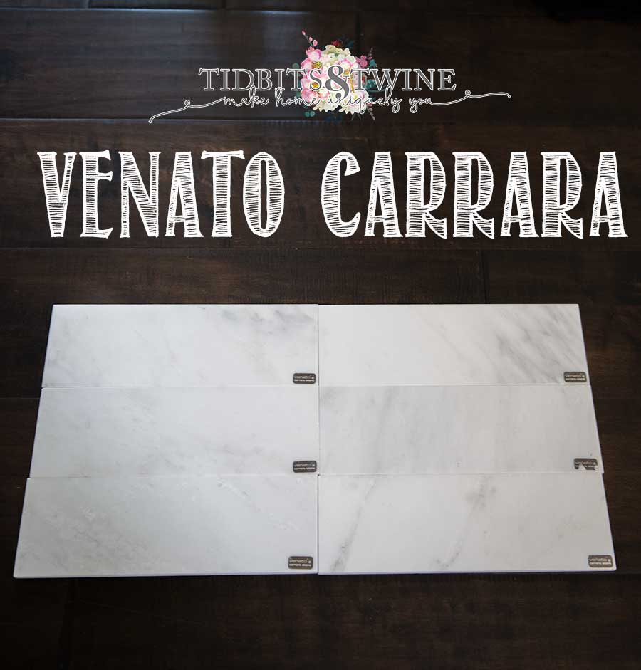 Tidbits&Twine Venato Cararara Sample from The Builder Depot