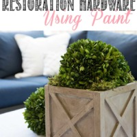 How to create a Restoration Hardware wood finish using chalk paint!
