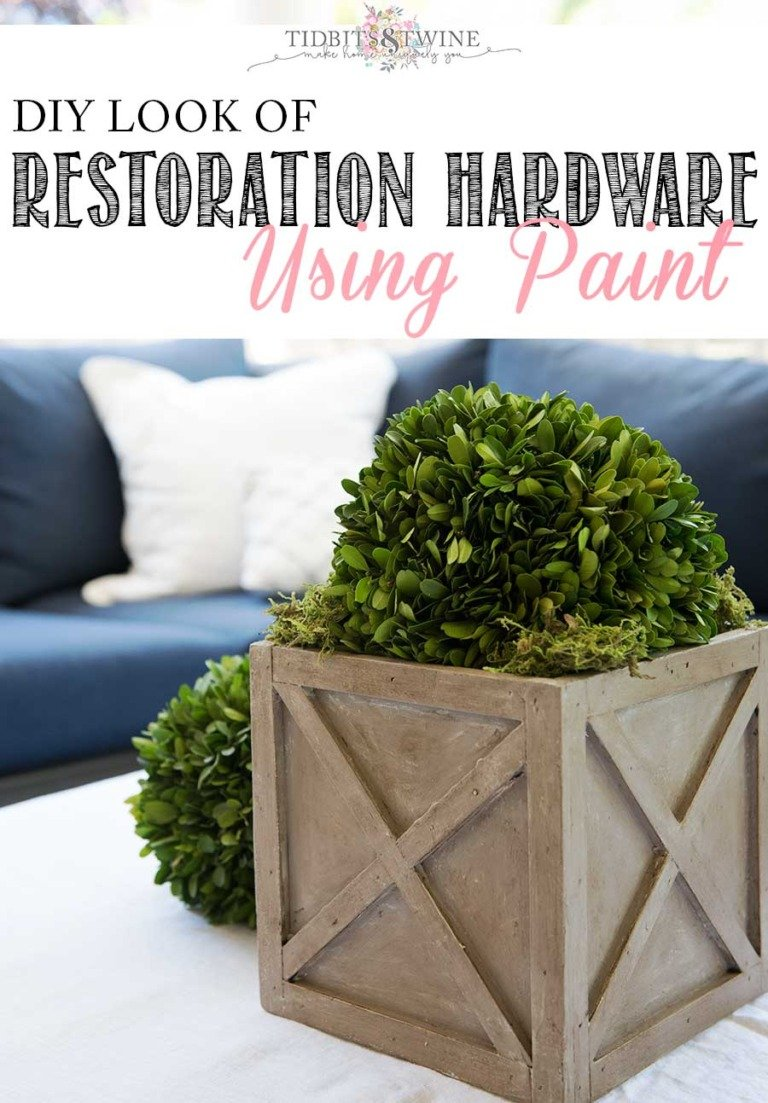 "DIY ""Restoration Hardware"" Look Using Paint"