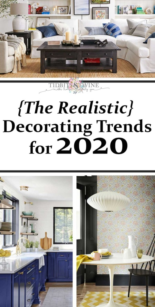Collage showing the realistic decorating trends for 2020