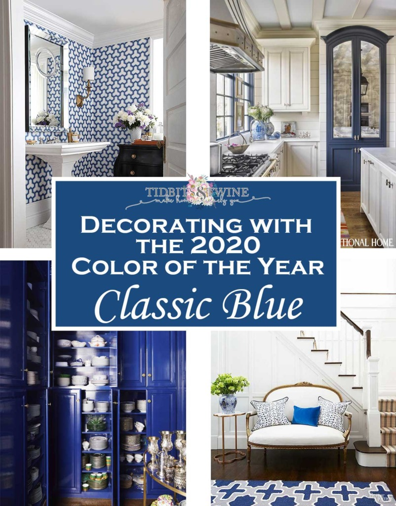 Ideas for Decorating with Classic Blue Pantone color of the year 2020