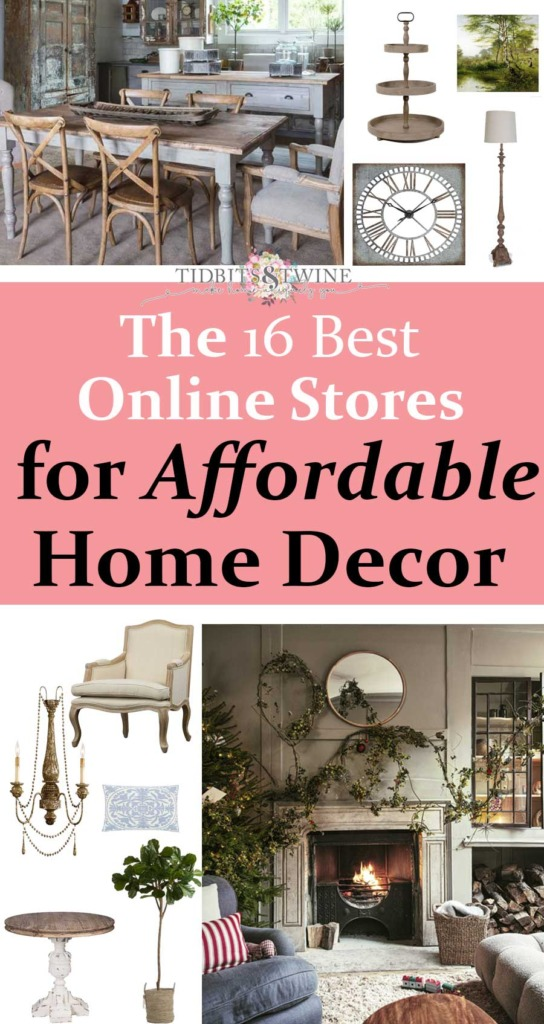 Collage of the 16 best online stores for home decor