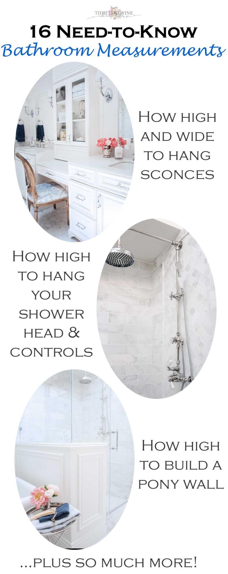 Need to Know Bathroom Measurements