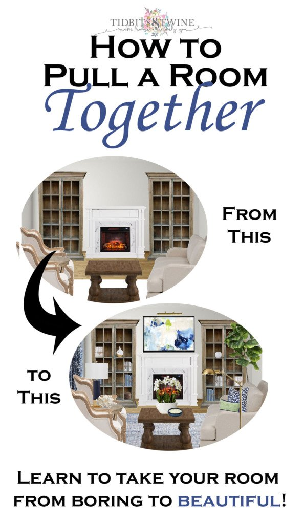Tidbits and Twine - How to Pull a Room Together so it Looks Finished