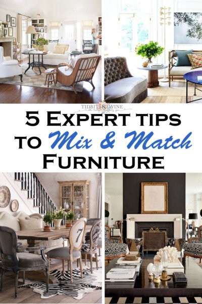 5 Expert Tips to Mix and Match Furniture from Tidbits and Twine