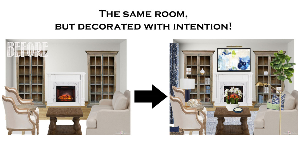 Tidbits and Twine - Learn How to Pull a Room Together BEFORE and AFTER