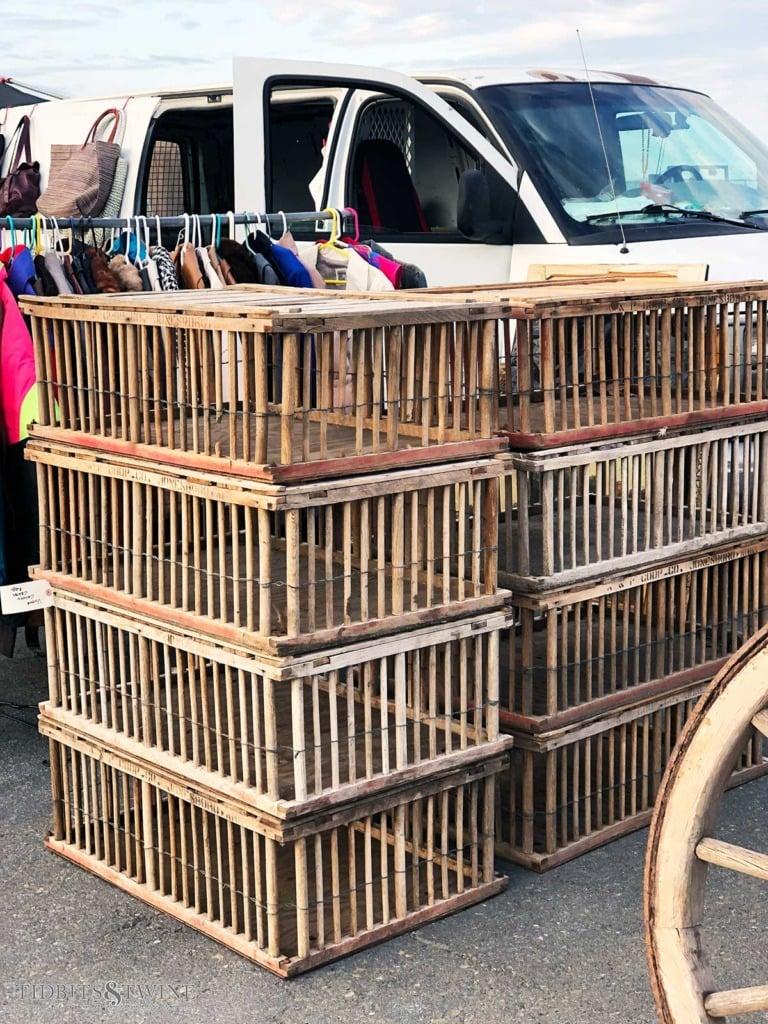 Vintage chicken crates