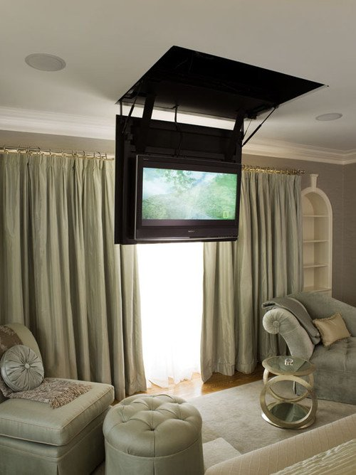 TV that flips down from ceiling