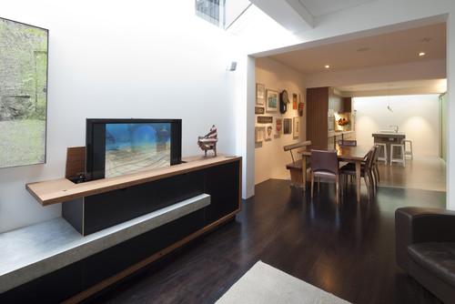 tv lift in family room