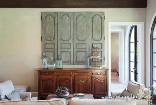 Decorative panels covering TV