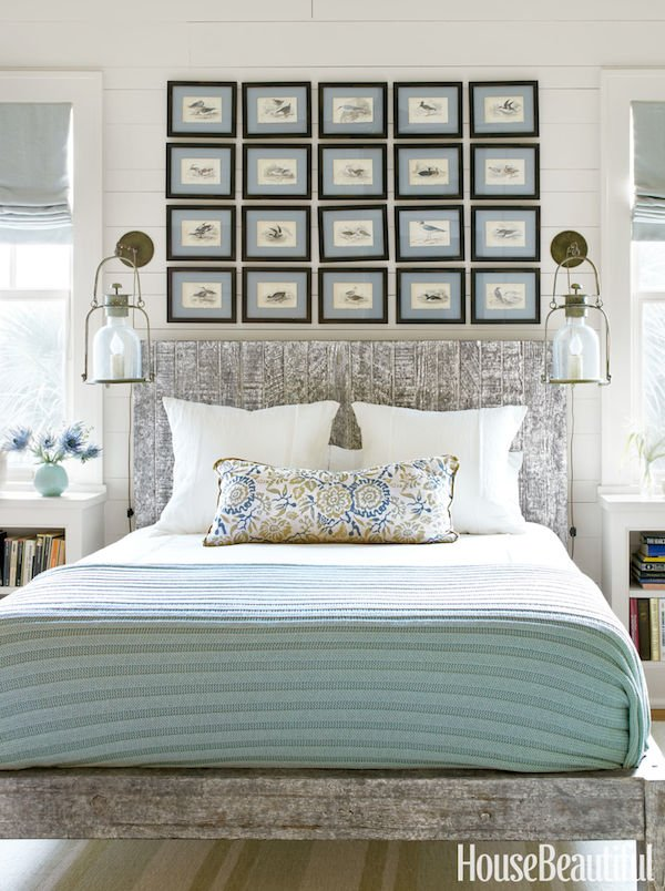 A picture grouping above the bed Tidbits and Twine
