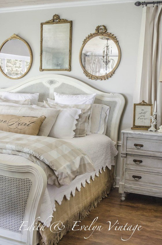 Ideas for How to Decorate Above the Bed Tidbits&Twine - Grouping of Mirrors