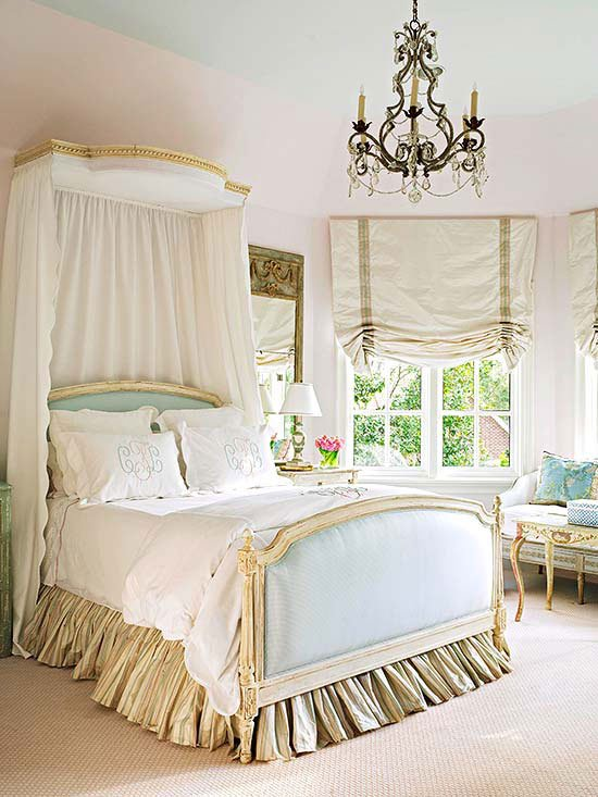 Ideas for How to Decorate Above the Bed Tidbits&Twine - Half Canopy Girls Room