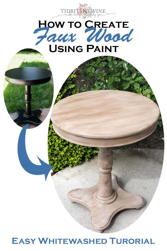 Create the whitewashed look of wood using paint! Super easy step-by-step tutorial.