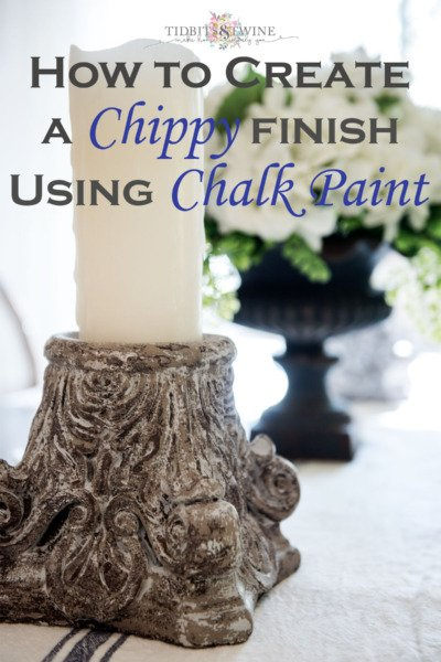 How to Create a Chippy Paint Finish using Chalk Paint