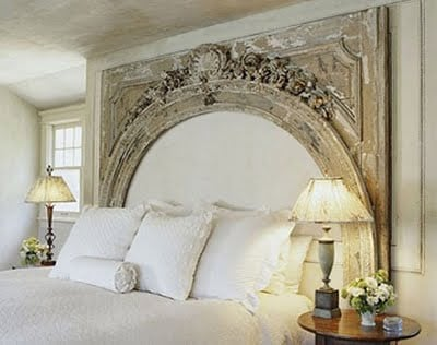 Ideas for How to Decorate Above the Bed Tidbits&Twine - Antique Pediment Above Bed