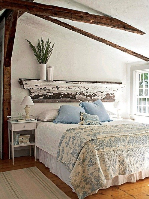 Ideas for How to Decorate Above the Bed Tidbits&Twine - Rustic Mantel Above the Bed
