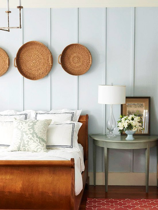 Ideas for How to Decorate Above the Bed Tidbits&Twine - Grouping of Baskets