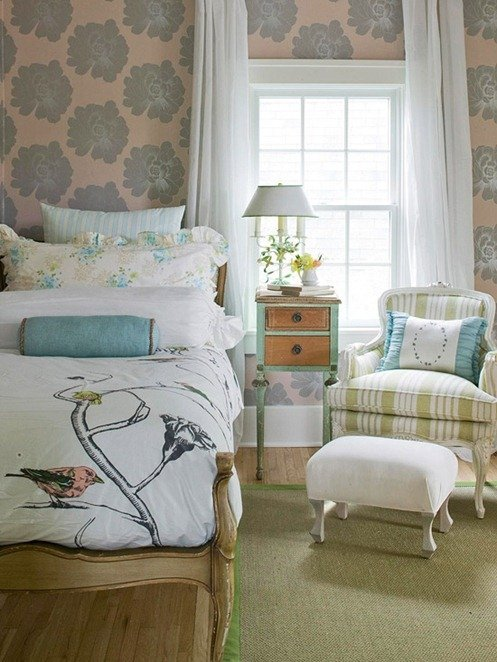 Ideas for How to Decorate Above the Bed Tidbits&Twine - Wallpaper Behind Bed