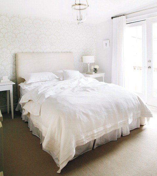 Ideas for How to Decorate Above the Bed Tidbits&Twine - White and Cream Wallpaper