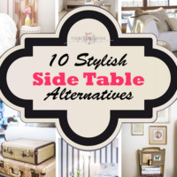 10 stylish side table ideas collage