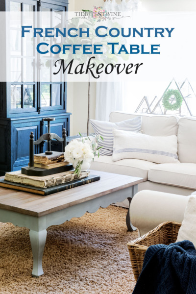 French Country Coffee Table Makeover