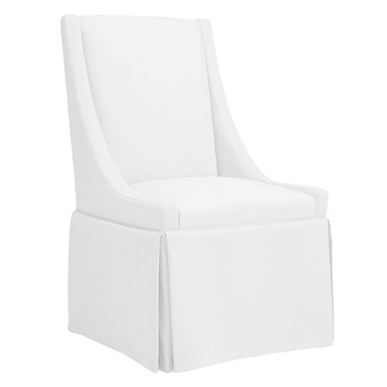 White slipcovered dining chair from Z Gallerie