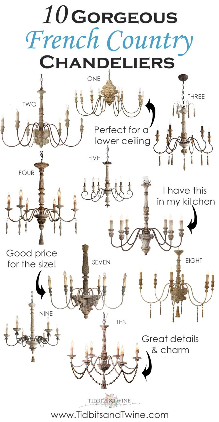 10 Gorgeous French Country Chandeliers with Rustic Charm