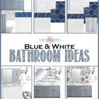 Bathroom Remodel: 6 Blue and White Design Board Ideas
