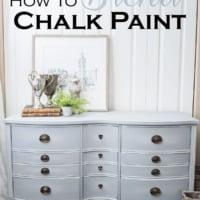how to blend chalk paint antique dresser painted gray blue