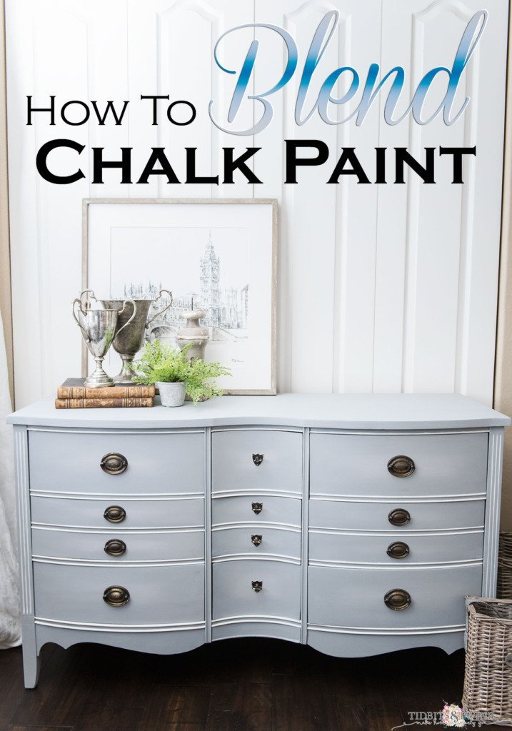 Dresser Makeover How To Blend Chalk Paint Tidbits Twine