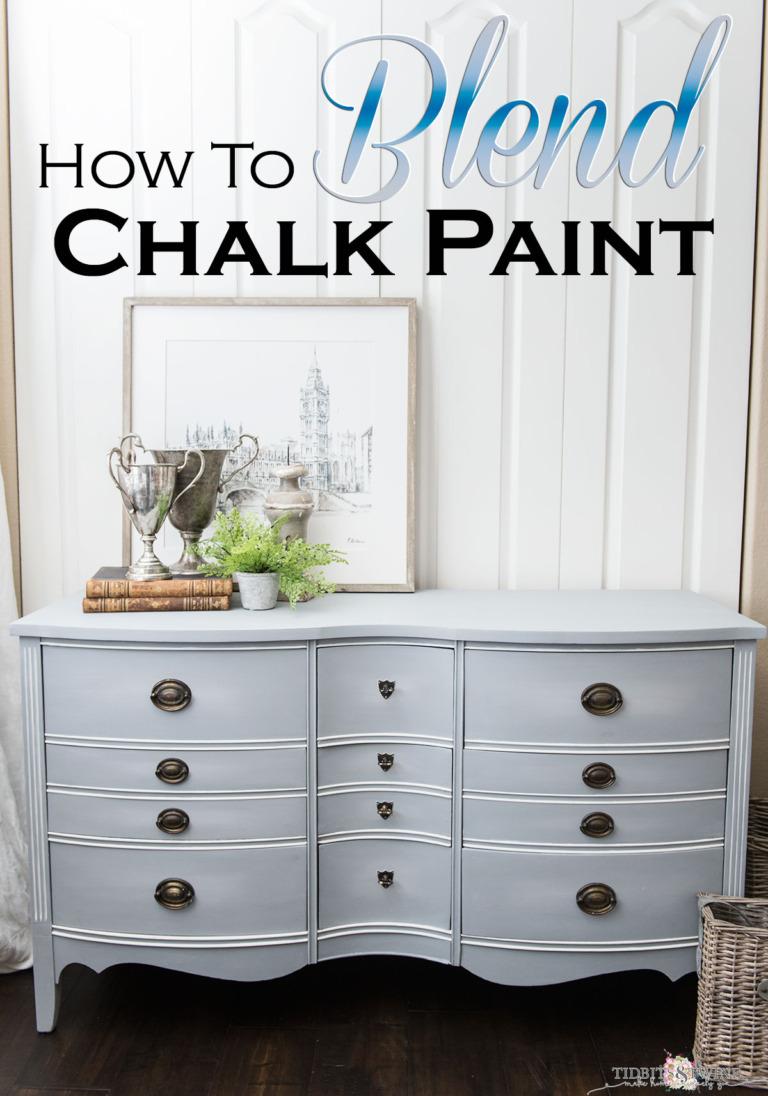 Dresser Makeover: How to Blend Chalk Paint