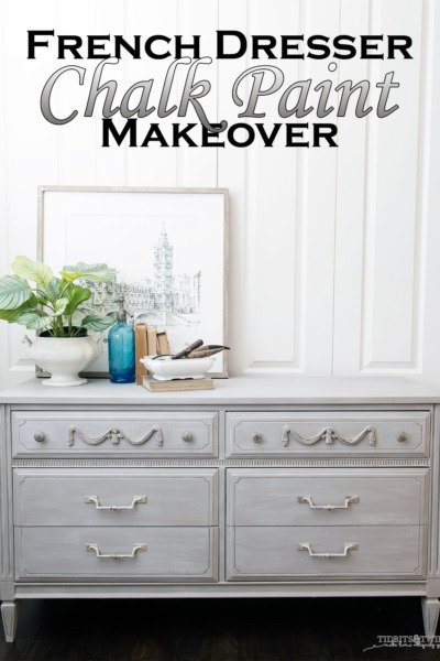 Painted French Dresser Makeover