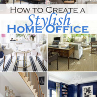 collage of 6 beautiful home offices