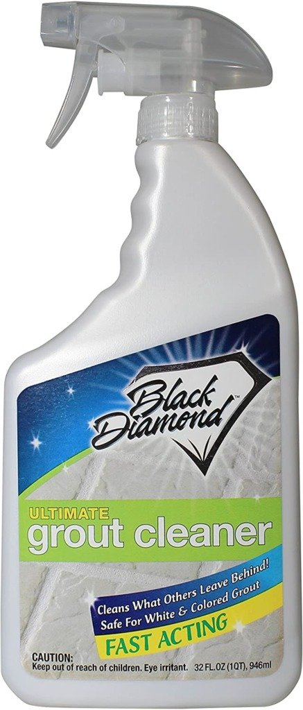 Closeup of Black Diamond Grout Cleaner safe for natural stone