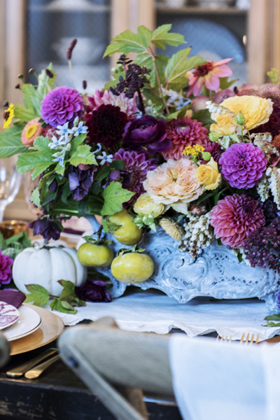 A Beautiful Fall French Tablescape: The Softer Side of Autumn