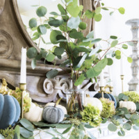 Decorating a French Fall Mantel with Muted Colors