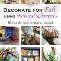 Fall Decorating using Natural Elements: An Easy Fall Feel