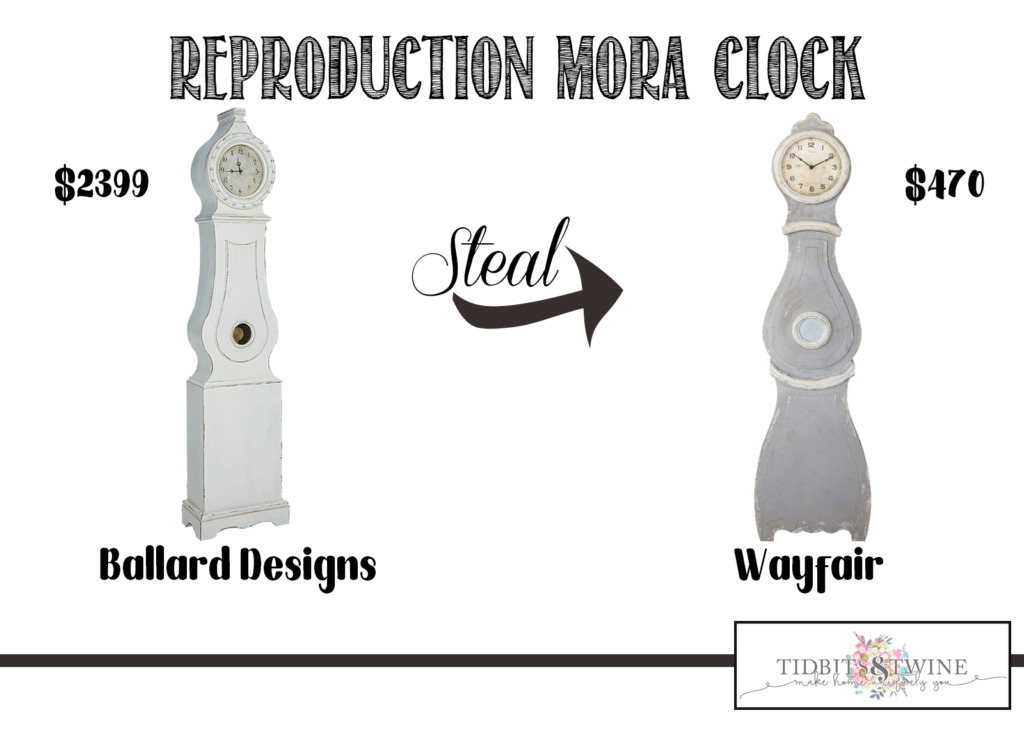 The mora clock from Ballard Designs compared to the one from Wayfair