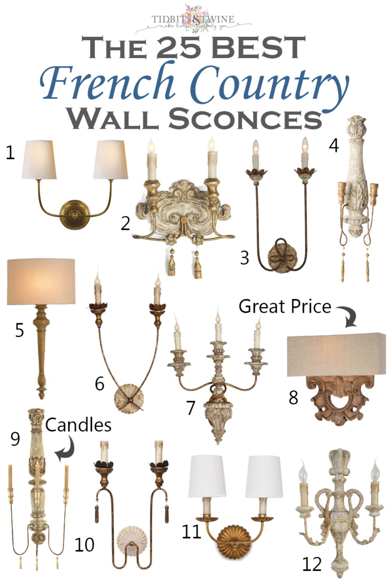 The 25 Best French Country Wall Sconces