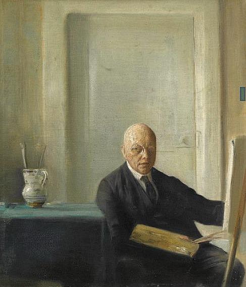 Self-portrait of Carl Holsoe