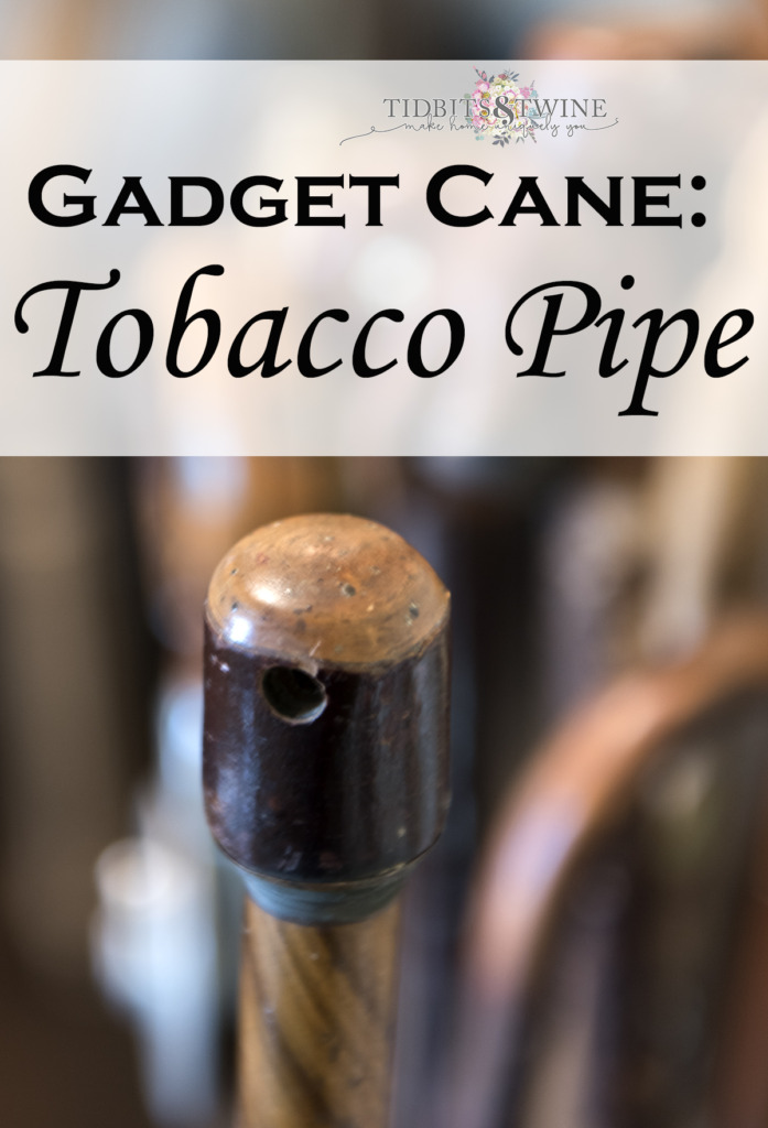 closeup of brown wooden tobacco pipe gadget cane