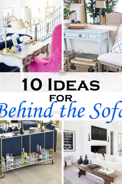 10 Stylish Ideas for What to Put Behind a Sofa