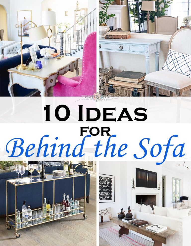 10 Stylish Ideas for What to Put Behind a Couch